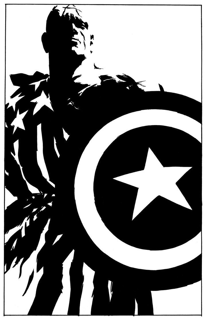 Gallery For gt Captain America Shield Logo Black And White