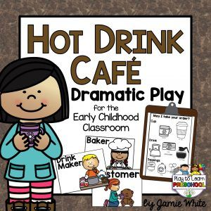 Hot Drink Cafe Dramatic Play center for Preschoolers