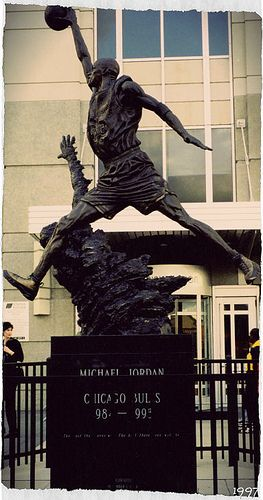 Michael Jordan Statue United Center Chicago, IL