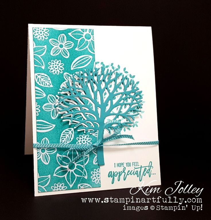SU! Thoughtful Branches stamp set; Beautiful Branches Thinlits dies; Irresistibly Floral DSP - Kim Jolley