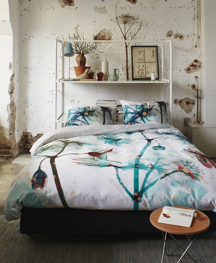linge de lit sanderson idylle cyclamen satin et vert. Black Bedroom Furniture Sets. Home Design Ideas