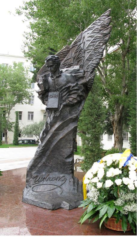 Shevchenko monument in Baku, Azerbaijan. Національний музей Тараса Шевченка