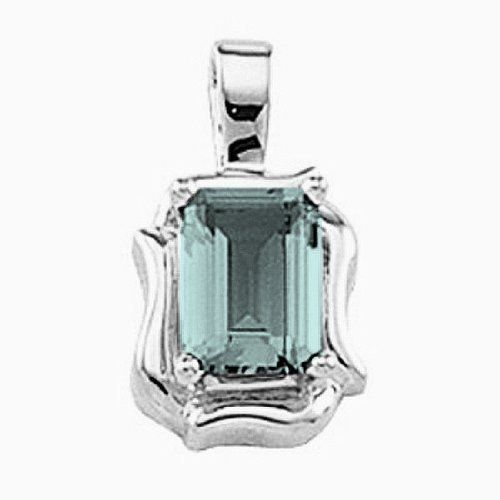Platinum Emerald Cut Aquamarine Pendant Gems-is-Me. $901.09. This item will be gift wrapped in a beautiful gift bag. In addition, a 'gift message' can be added.. FREE PRIORITY SHIPPING. Save 40%!