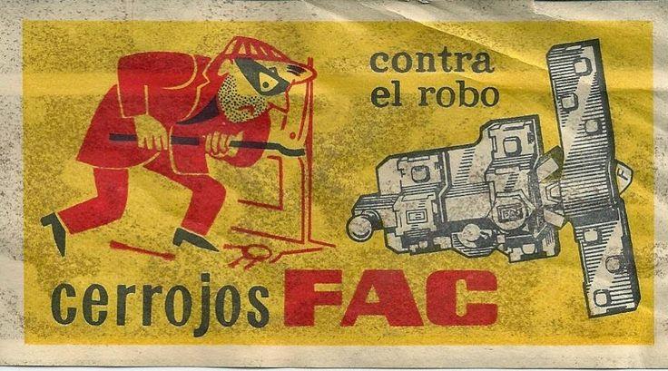 cartel antiguo cerrojos FAC