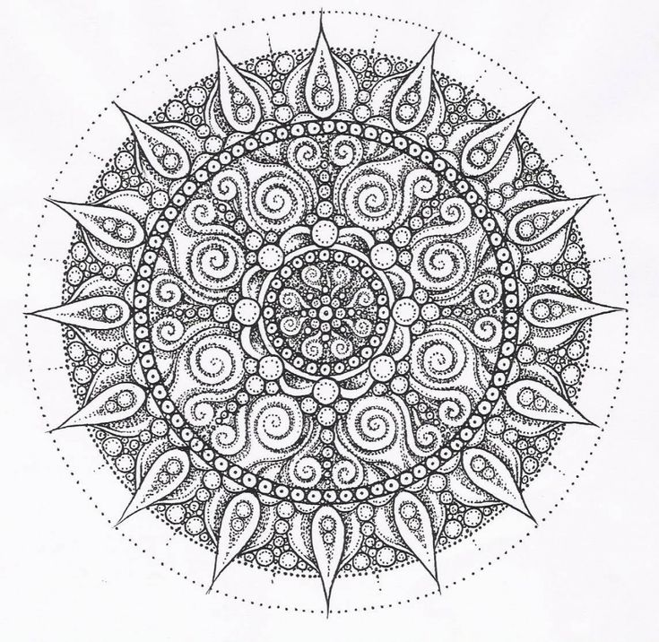 hard coloring page ez coloring pages 4 - Intricate Mandalas Coloring Pages