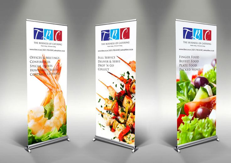 The Business of Catering's pull-up banners - www.tboc.co.za
