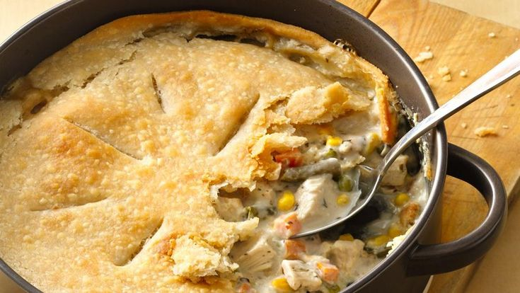 Craving chicken pot pie? Try this gluten-free version made with Pillsbury® Gluten Free refrigerated pie and pastry dough!