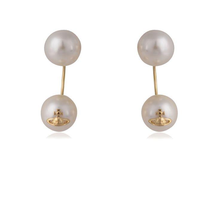 Vivienne Westwood Jewellery Demi Pearl Earrings