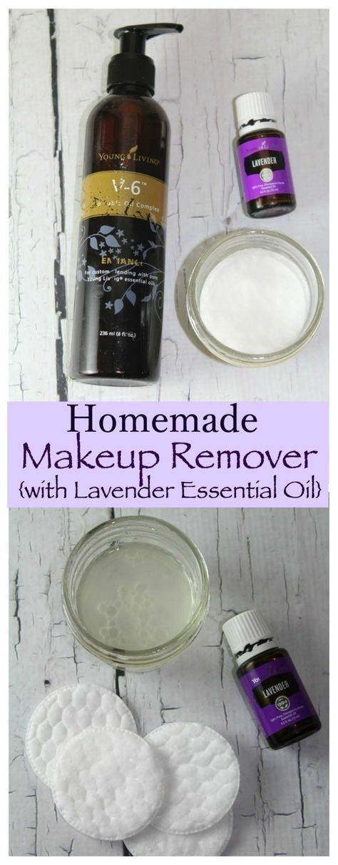 This Homemade Makeup Remover with Lavender Essential Oil is SUPER easy to make and would be a wonderful addition to your personal beauty regimen! #LavenderFields