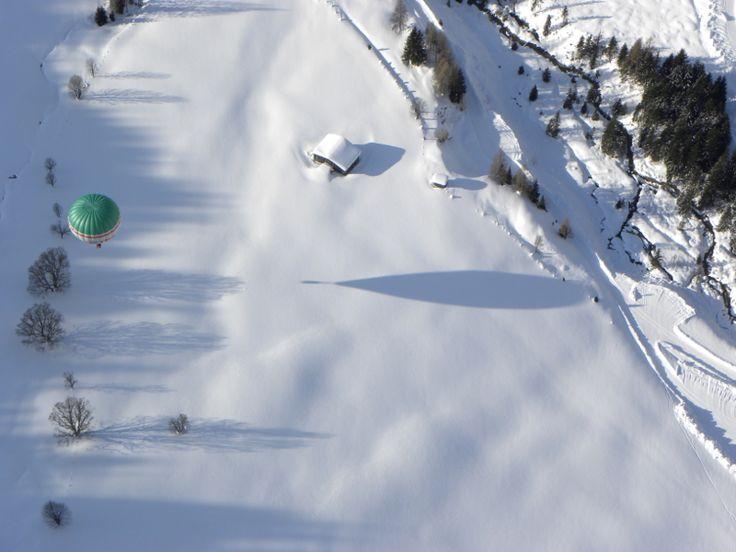 Let balonem v Alpách