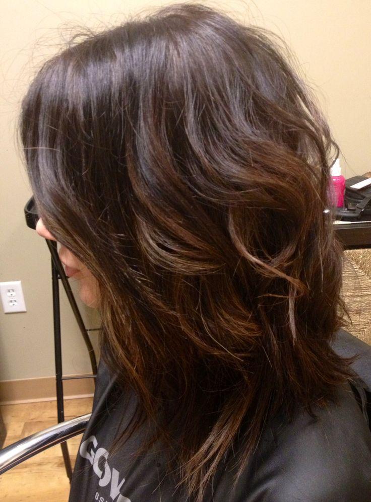 dark/ hair cut