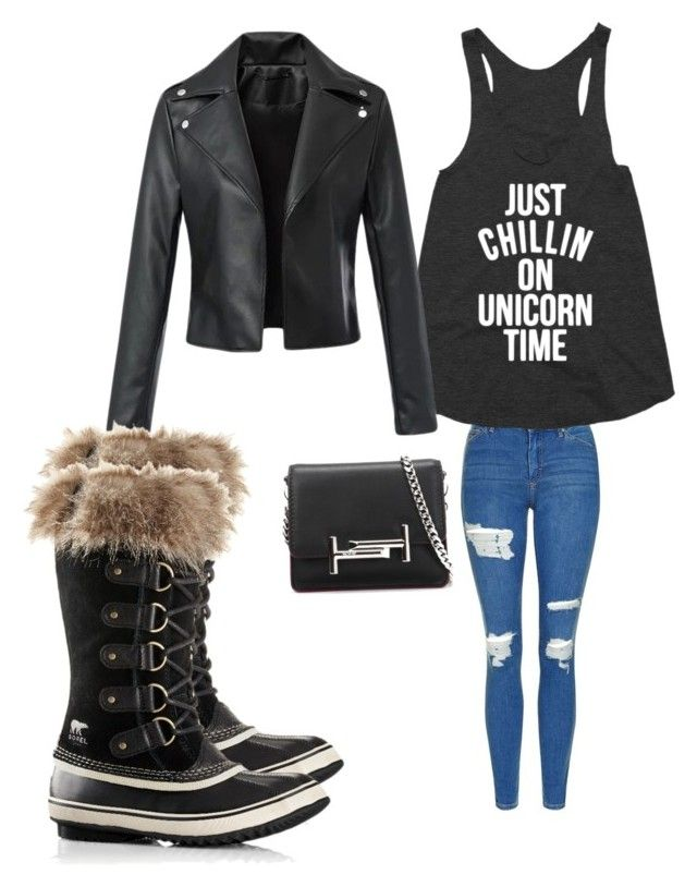 """""""Untitled #160"""" by adrianna-nicole-smith on Polyvore featuring Topshop, SOREL and Tod's"""