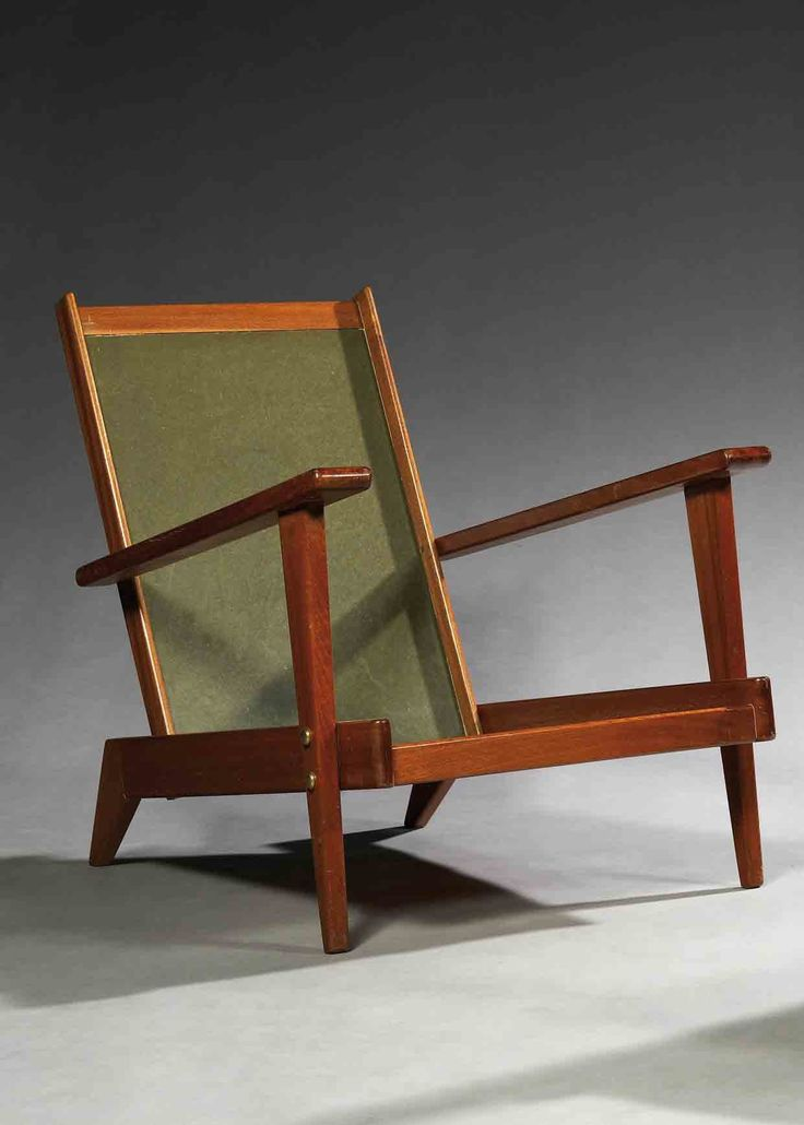 André Sornay; Mahogany Lounge Chair, c1950.