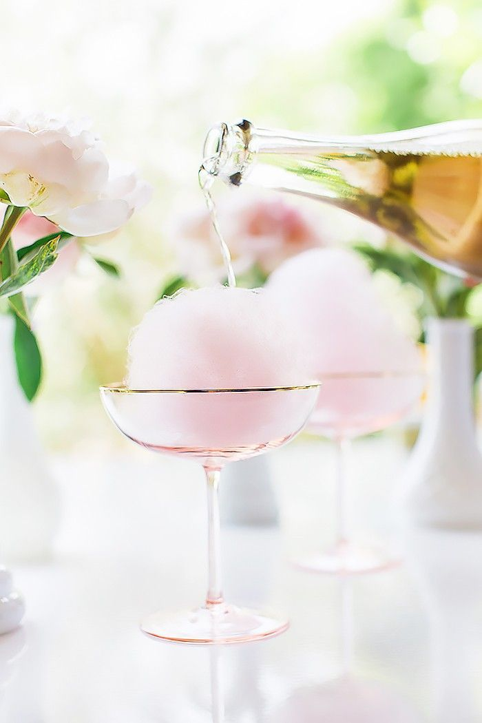 Cotton Candy Cocktail. The Prettiest Cocktails to Sip on February 14 via @MyDomaine