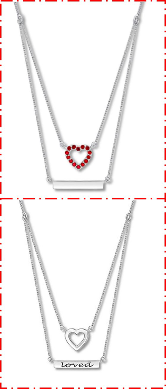Layer on the love this Valentine's Day with this lab-created ruby heart necklace. It has a hidden love note inside!