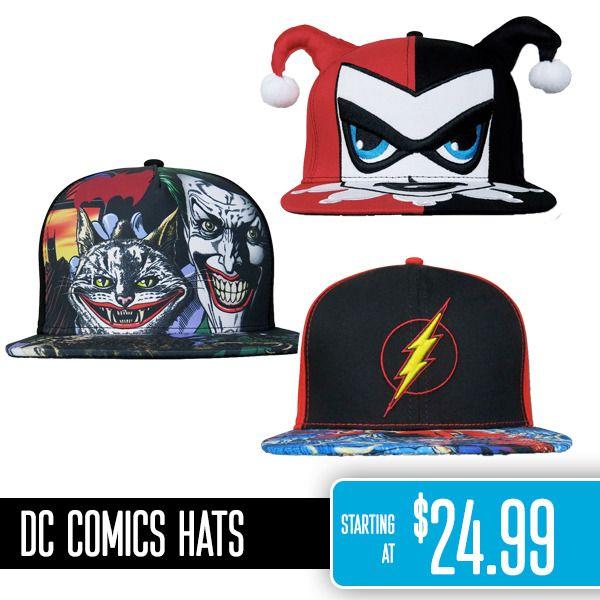 DC Comics hats http://www.superherostuff.com/superhero-hats-caps.html #DCComics