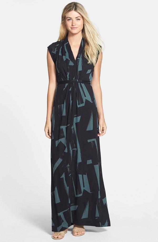 'Meadow' Jersey Maxi Dress / French Connection @nordstrom #nordstrom – loving this color and pattern!