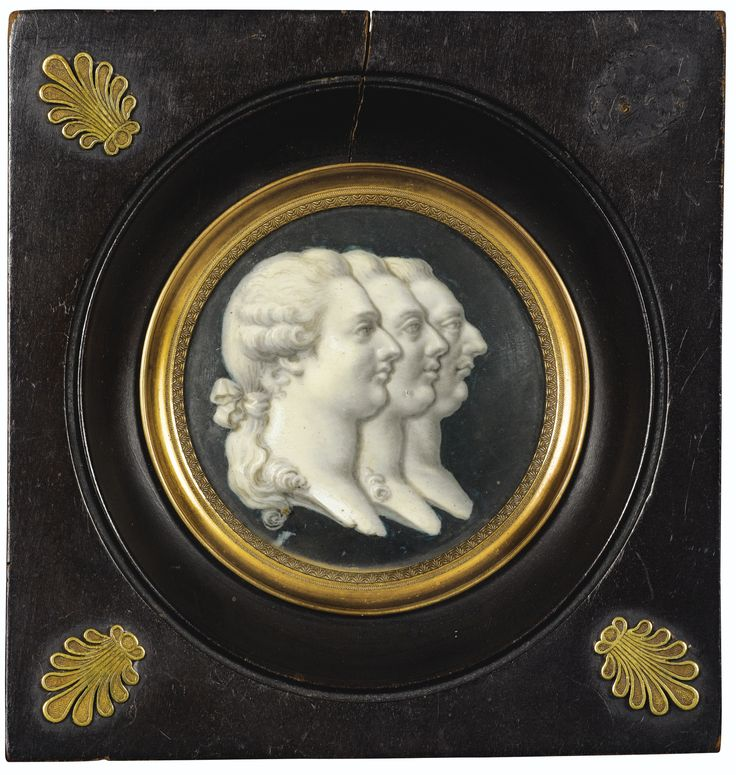 Triple A Company >> Triple profile portrait of Louis XIV, XV, and XVI, 18th century, French school | Versailles ...