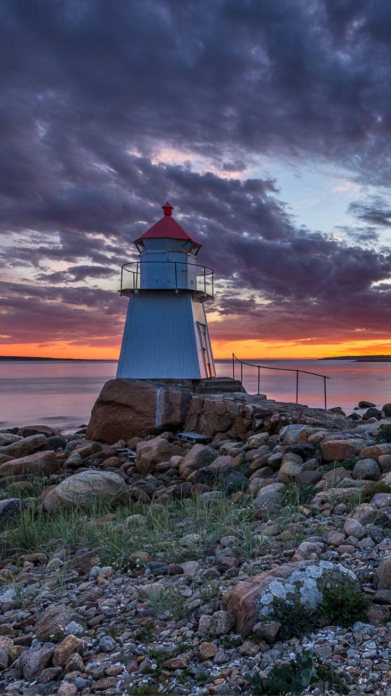 Pikesten Lighthouse, Hvaler Islands, Norway- by Bent Velling