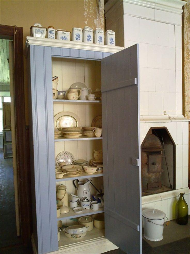 nice blue kitchen cupboard