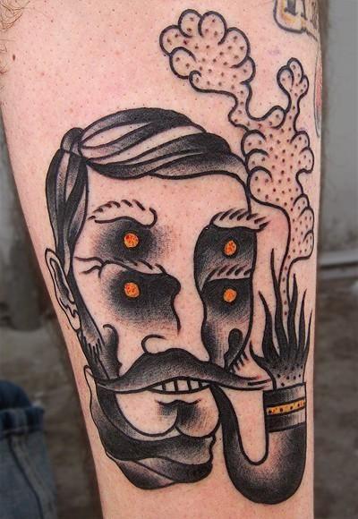 mike adams tattoo wolf