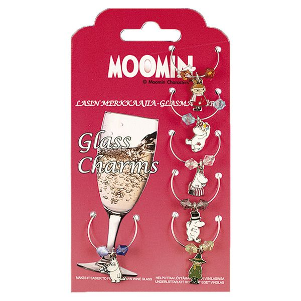Mark your own wine glass with these fun Moomin Glass charms!