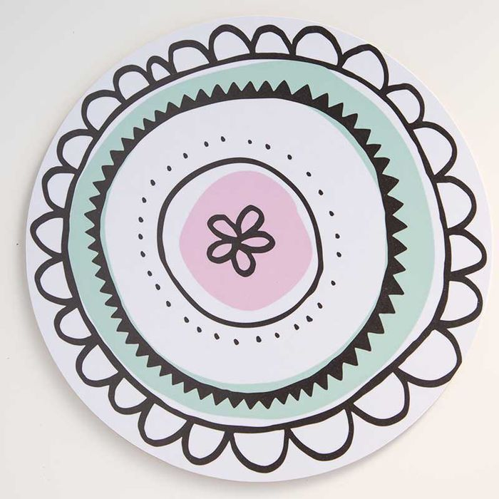 Aura-kakkualusta minttu, pieni | Small Aura cake plate, mint | www.käpynen.fi