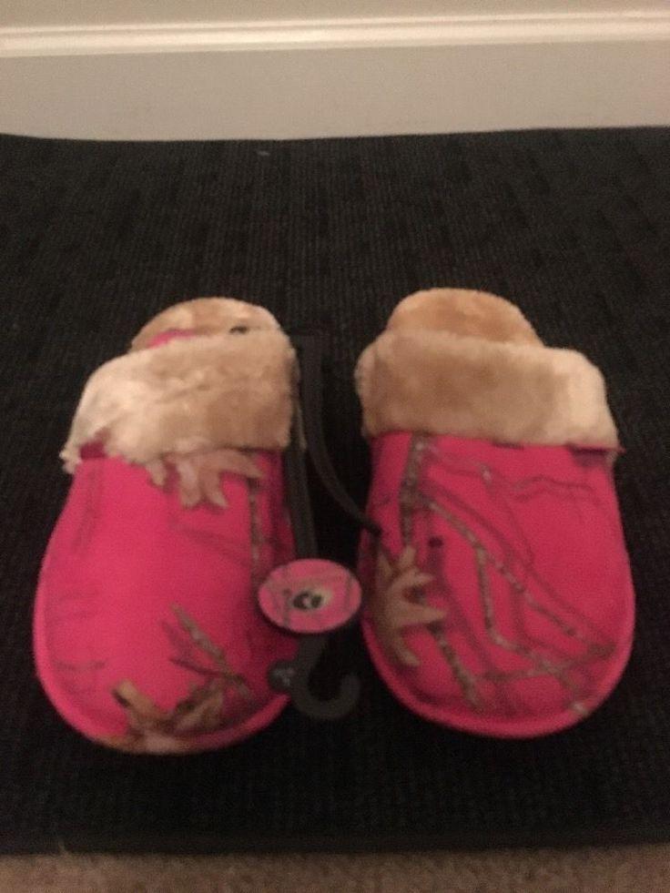 Details About Mossy Oak Ladies Bedroom Slippers Shoes Sz L 9 10