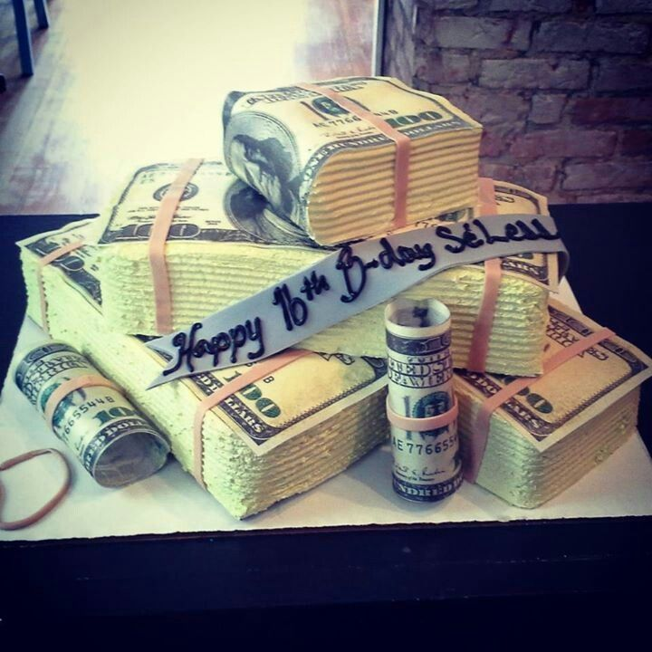MONEY BIRTHDAY CAKE