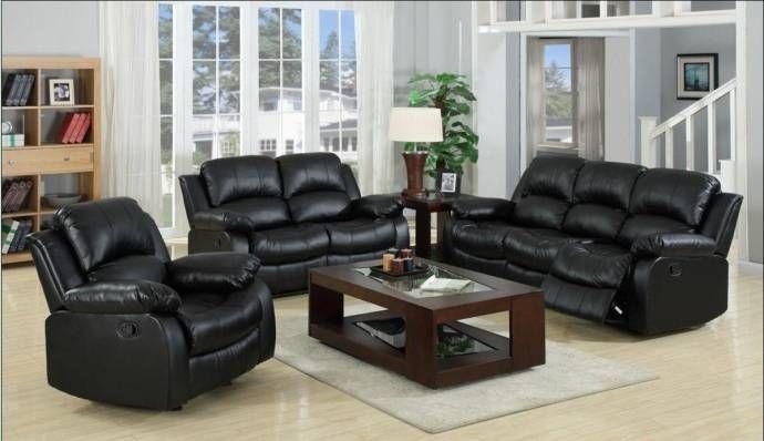 Karen Black Bonded Leather Reclining Sofa Love Seat Living Room Furniture Set 1075 Bk Set 2 Buy Online Living Room Sets Furniture Black Leather Living Room Furniture Living Room Leather