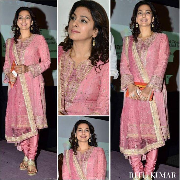 Juhi Chawla looks beautiful and elegant in a Ritu Kumar ensemble at Aarambh India launch.