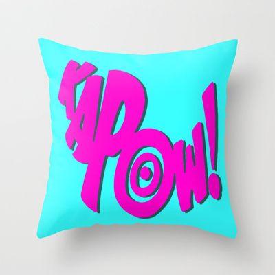 KAPOW! # 3 Throw Pillow