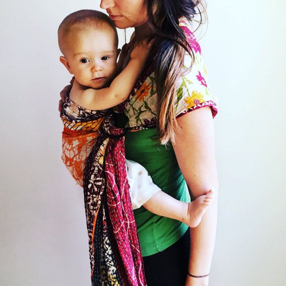 The Original Kantha Quilt Ring Sling/ Baby Carrier/ by kanthabae