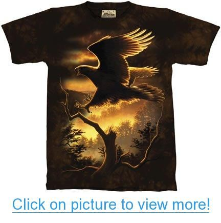 The Mountain Golden Eagle Soaring Adult Tee T-shirt