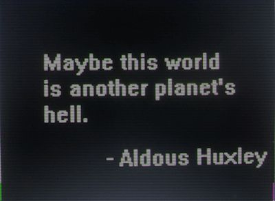 Not maybe...I think humans made it hell..ruined it.self-destruction the human race..