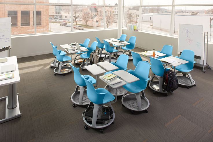If I only knew that desks like these existed when I was in the classroom! Node by Steelcase