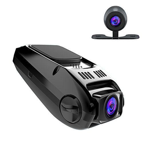 APEMAN Dash Cam Caméra de Voiture 1080P Dual Cams Condensateur Intégré Grand Angle 170° Mini Covert Polyvalent Enregistereur de Conduite…