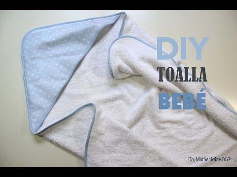 DIY Canastilla bebe: Tutorial de toalla con capucha - YouTube