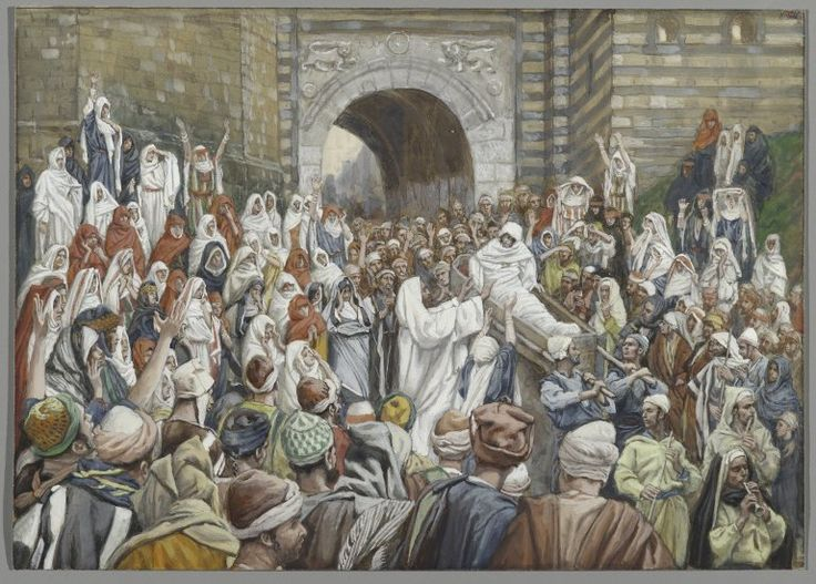 The Resurrection of the Widow's Son at Nain (La résurrection du fils de la veuve de Naïm) : James Tissot : Free Download & Streaming : Internet Archive