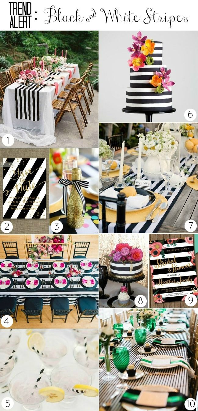 TREND ALERT :: BLACK AND WHITE STRIPES — Celebrations at Home