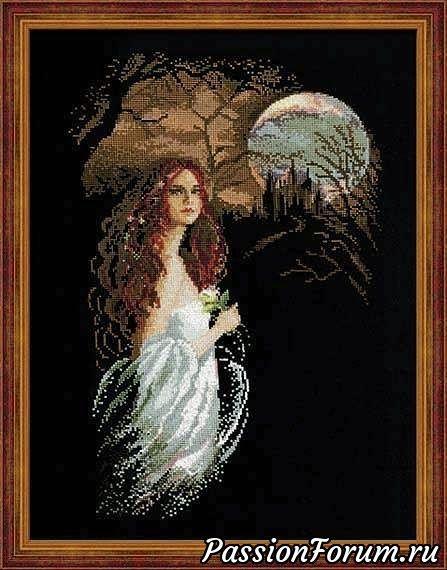 Схемы вышивки от Риолис на черном фоне Полночь