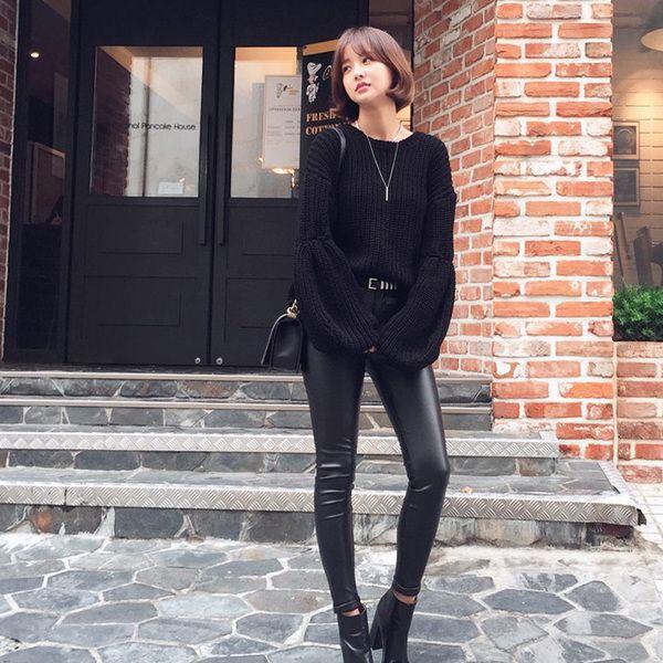 包邮2015秋冬新款韩国专柜品质女装韩版时尚休闲潮流女士pu皮裤