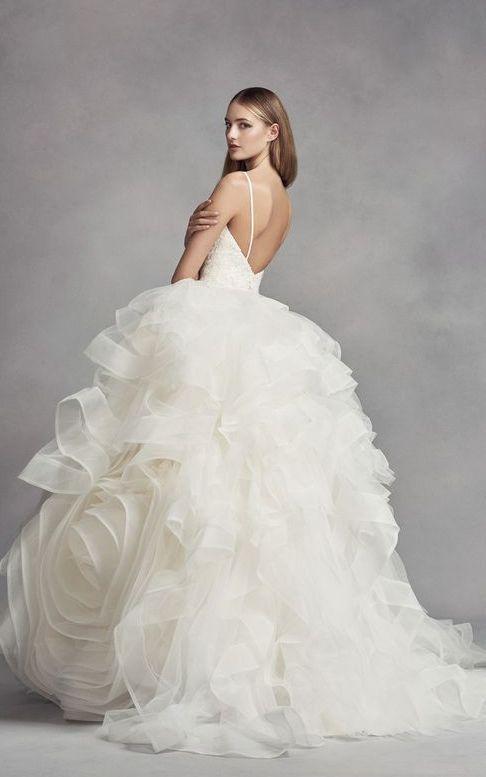 Featured Dress: White by Vera Wang; Wedding dress idea.