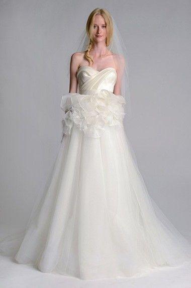 Marchesa Fall 2014 | Wedding Trend 2014: 12 Pretty Peplum Style Wedding Dresses | weddingsonline