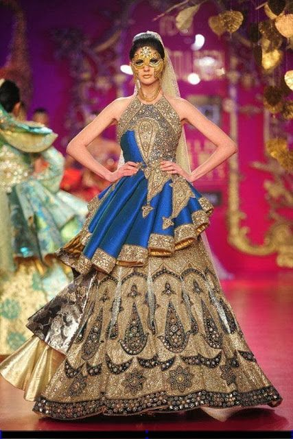 #RituBeri Blue #Bridal #Designer Dress