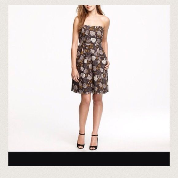 ✨LOWEST✨JCrew Tube Dress, NWT Strapless dress in gorgeous dark toned floral print. J. Crew Dresses Strapless