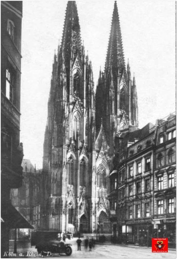 Koln Blick Von Der Komodienstrasse Auf Das Westportal Des Domes Um 1925 Stadt