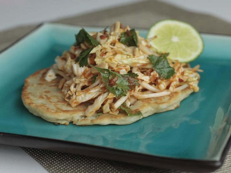 Bangkok Pancakes with Pad Thai Slaw, made from a recipe in Curbside by Adam Hynam-Smith.