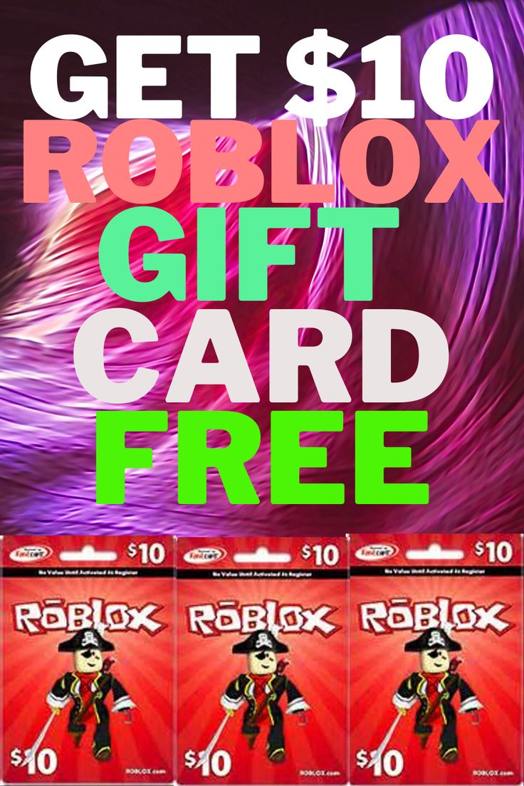 Get 10 roblox gift card free in 2020 roblox gifts