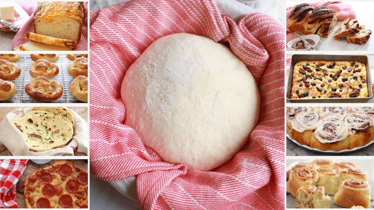 Crazy dough Bread - 1 dough that can make a variety of breads from Pizza to Cinnamon Rolls.